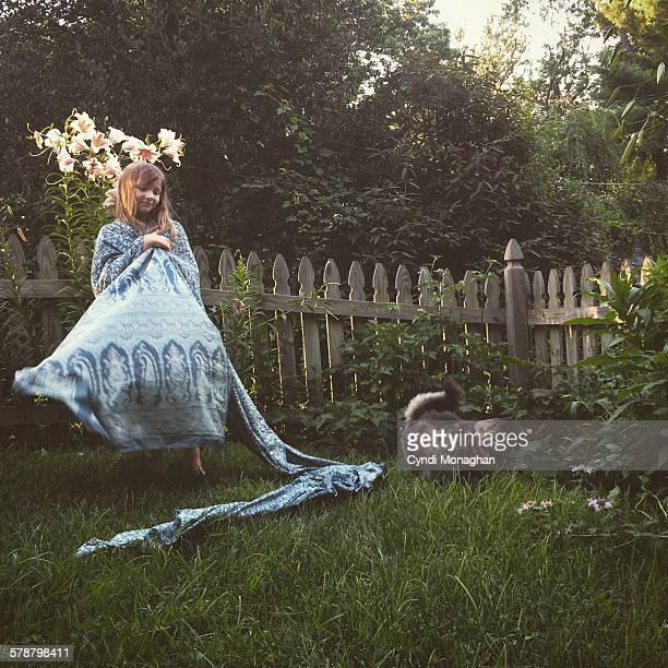 Twirling in Garden