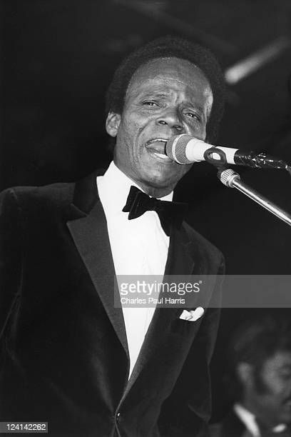 Twist star Hank Ballard performs at The Hammersmith Palais on December 11, 1986 in London, England.