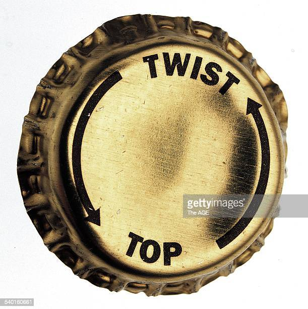 A twist top beer bottle top 12 December 1997 THE AGE Picture by ROB BANKS