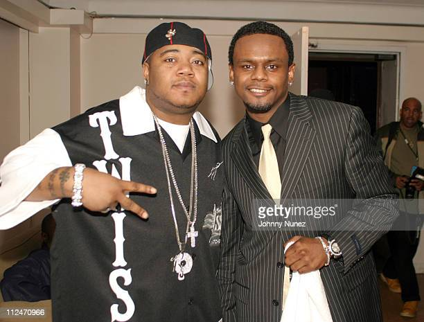 Twista and Carl Thomas during 3rd Annual Doug Banks Jam Session at Hammerstein Ballroom in New York City New York United States