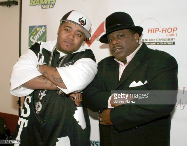 Twista and Cedric The Entertainer during 3rd Annual Doug Banks Jam Session at Hammerstein Ballroom in New York City New York United States