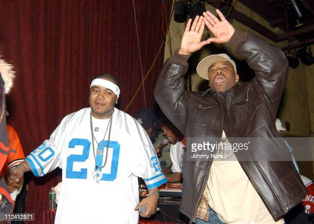 Twista and Damon Dash during Twista Performs At SOBs January 22 2004 at SOBs in New York City New York United States