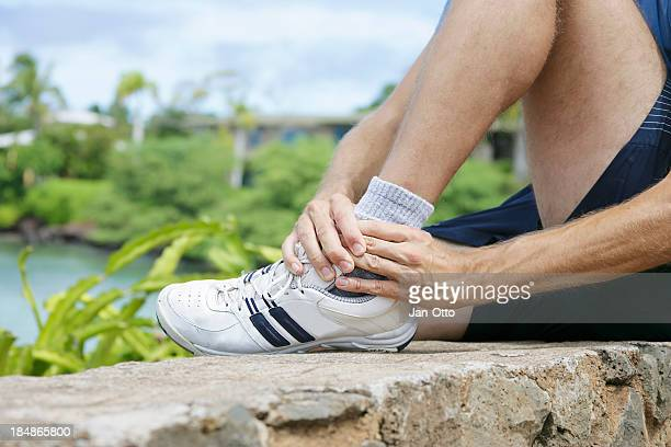 twisted ankle - fibula stock photos and pictures