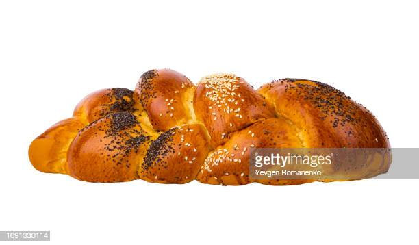 Twisted bread isolated on white background