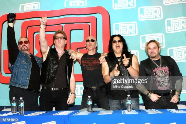 Twisted Sister bassist Mark The Animal Mendoza guitarist and founder Jay Jay French lead singer Dee Snider guitarist Eddie Fingers Ojeda and drummer...