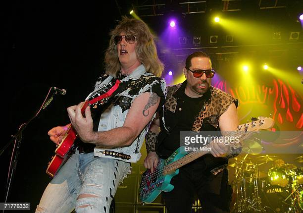 Twisted Sister guitarist Jay Jay French and bassist Mark Mendoza perform at The Joint inside the Hard Rock Hotel Casino September 2 2006 in Las Vegas...
