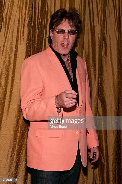 Twisted Sister guitarist Jay Jay French arrives at the American Civil Liberties Union Bill of Rights dinner and silent auction held at the Regent...