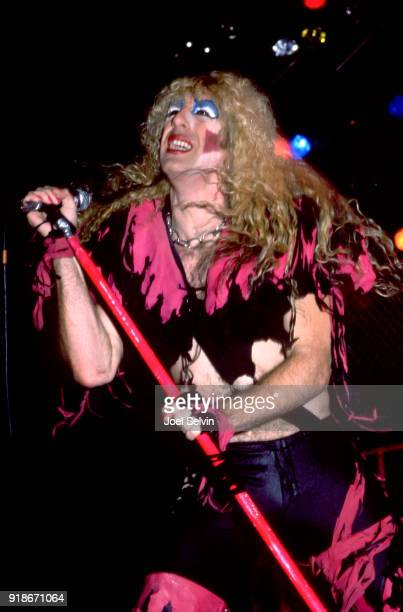 Twisted Sister lead vocalist Dee Snider appears March 21 1985 as the opening act of the Iron Maiden concert at the Cow Palace in San Francisco
