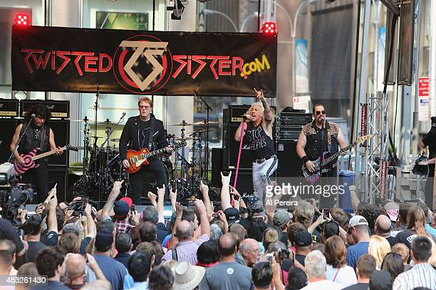 Twisted Sister performs during FOX Friends All American Concert Series outside of FOX Studios on July 25 2014 in New York City