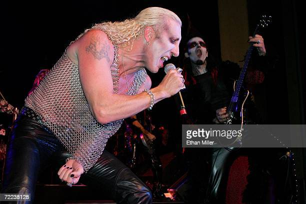 Twisted Sister singer Dee Snider and guitarist Zak Soulam perform as part of Snider and his wife Suzette's wedding vow renewal ceremony following a...