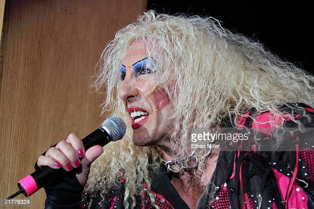 Twisted Sister singer Dee Snider performs at The Joint inside the Hard Rock Hotel Casino September 2 2006 in Las Vegas Nevada