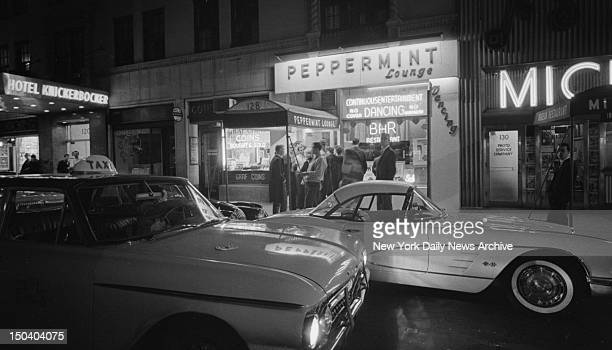 Twisters Rock New York Cars crowd outside the Peppermint Lounge at 128 West 45th St A West side spot that was just another bar until customers began...