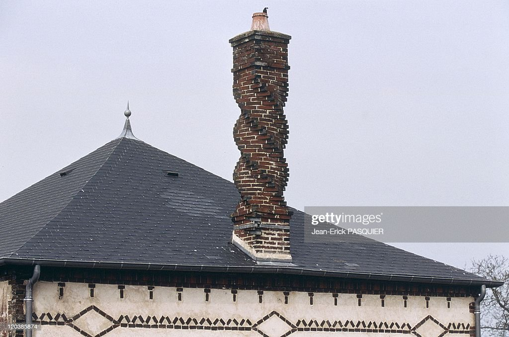 Twisting Chimney In Saint Ouen Sur Iton, France - : News Photo