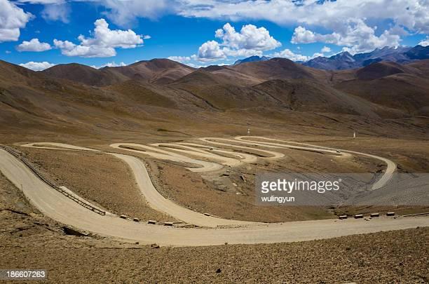 Twisting mountain road