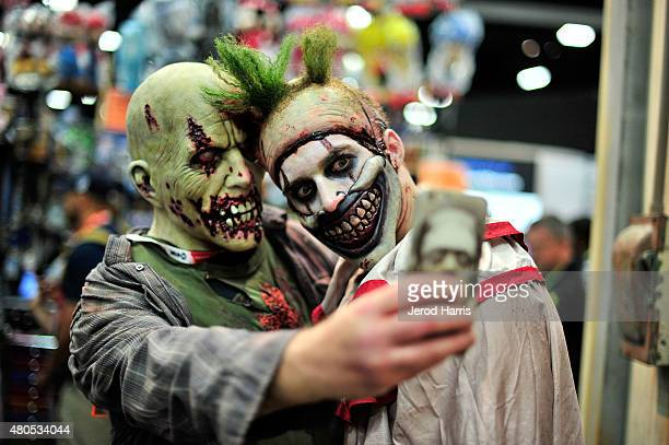 Twisty The Clown makes an appearance at the Fox Home Entertainment booth at Comic Con 2015 on July 11 2015 in San Diego California