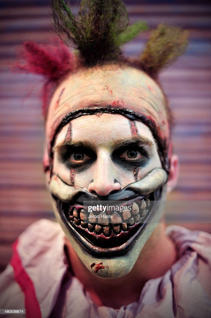 Twisty The Clown makes an appearance at the Fox Home Entertainment booth at Comic Con 2015 on July 11, 2015 in San Diego, California.