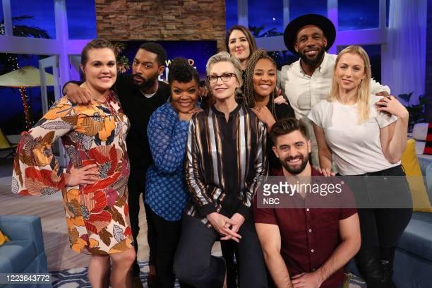 "TWitch & Shout"" Episode 605 -- Pictured: Mandy, Tone Bell, Yvette Nicole Brown, Jane Lynch D'Arcy Carden, Amanda Seales, Daniel, tWitch, Iliza..."