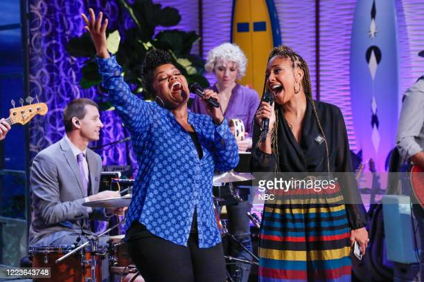"""TWitch & Shout"""" Episode 605 -- Pictured: Yvette Nicole Brown, Amanda Seales --"""
