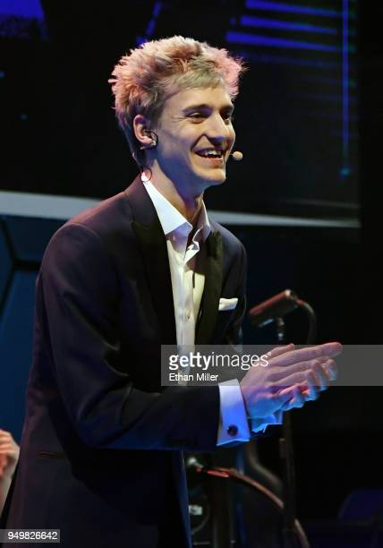 Twitch streamer and professional gamer Tyler 'Ninja' Blevins is introduced during Ninja Vegas '18 at Esports Arena Las Vegas at Luxor Hotel and...