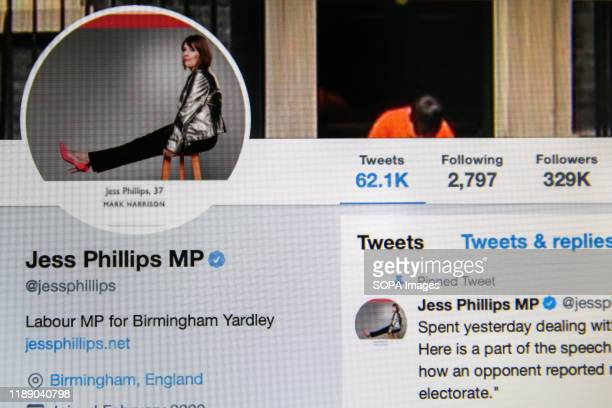 Twitter account of Jess Phillips Member of Parliament for Birmingham Yardley Labour Party Leader Jeremy Corbyn announced that he will not lead Labour...
