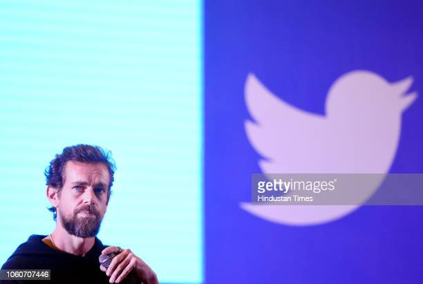 Twitter CEO and Co Founder Jack Dorsey addresses students at the Indian Institute of Technology on November 12 2018 in New Delhi India