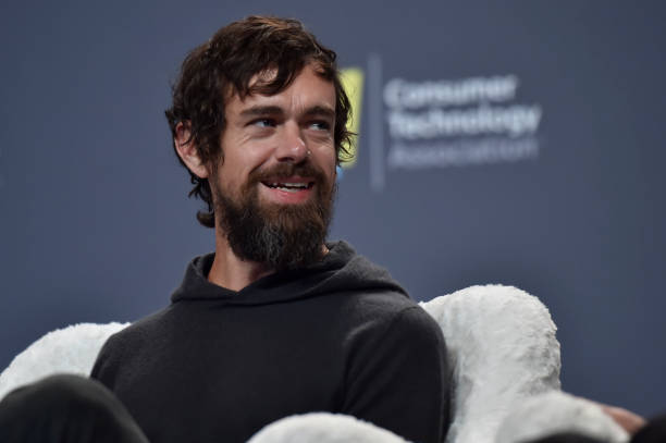 Twitter CEO Jack Dorsey speaks during a press event at CES 2019 at the Aria Resort & Casino on January 9, 2019 in Las Vegas, Nevada. CES, the world's...