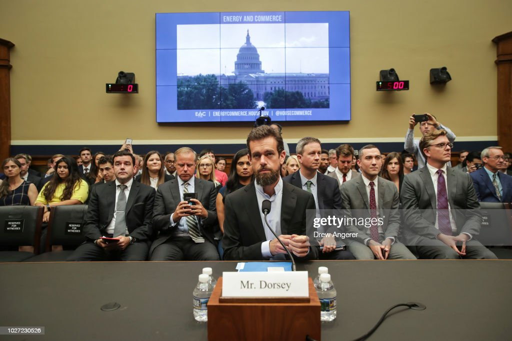 Twitter CEO Jack Dorsey Testifies To House Hearing On Company's Transparency and Accountability : News Photo