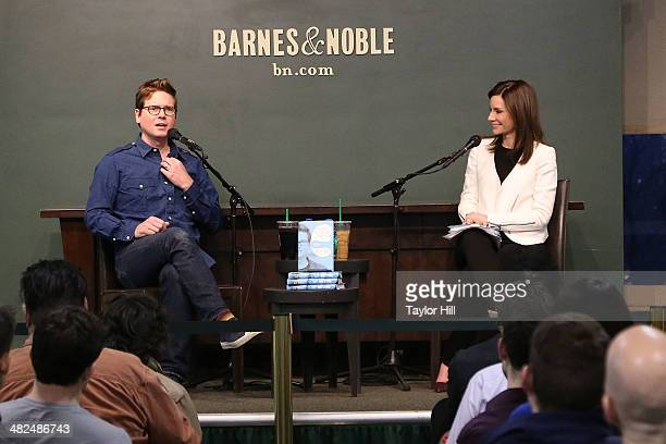 Twitter co founder Biz Stone and economics correspondent Rebecca Jarvis promote Things A Little Bird Told Me at Barnes Noble Union Square on April 3...