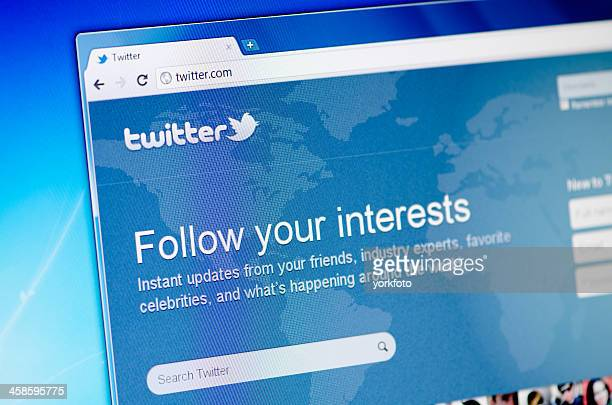 Twitter homepage.