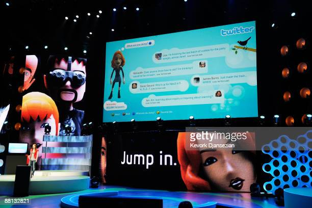Twitter is added to XBox Live online community at Microsoft's XBox 360 media briefing to open the Electronic Entertainment Expo on June 1, 2009 in...