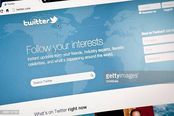 Twitter.com page d'accueil, suivez vos centres d'intérêt