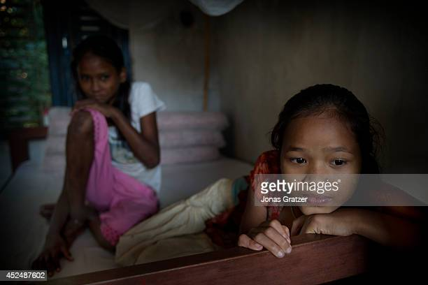 Two 9 year old exKamlaris at a home for the Kamlaris rescued from host families but are unable to return to their real families The Kamaiya/Kamlari...