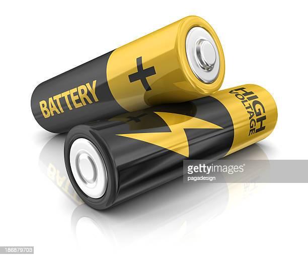 Zwei AA-Batterien