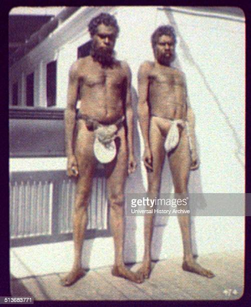 Two aborigines of the Worki tribe Gilbert River N Queensland
