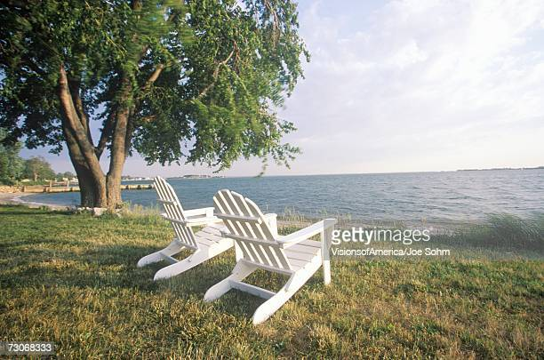 """""""Two Adirondack chairs overlooking the Chesapeake Bay, MD"""""""