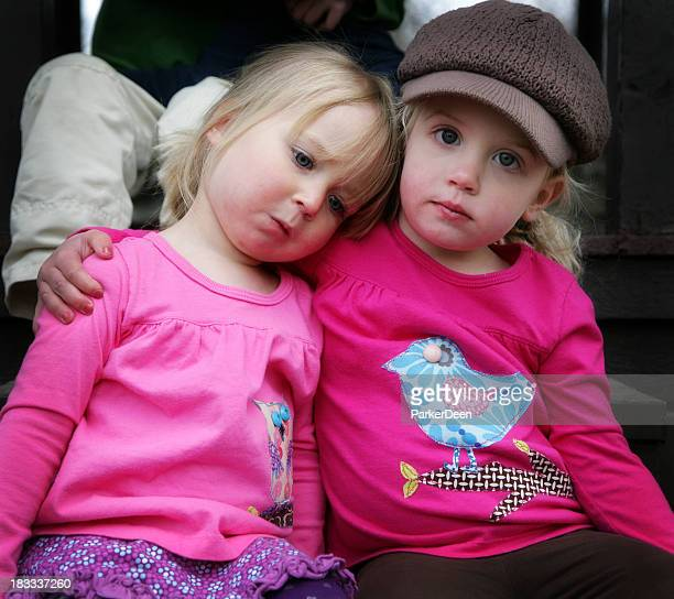 Two Adorable Little Girls at the Park