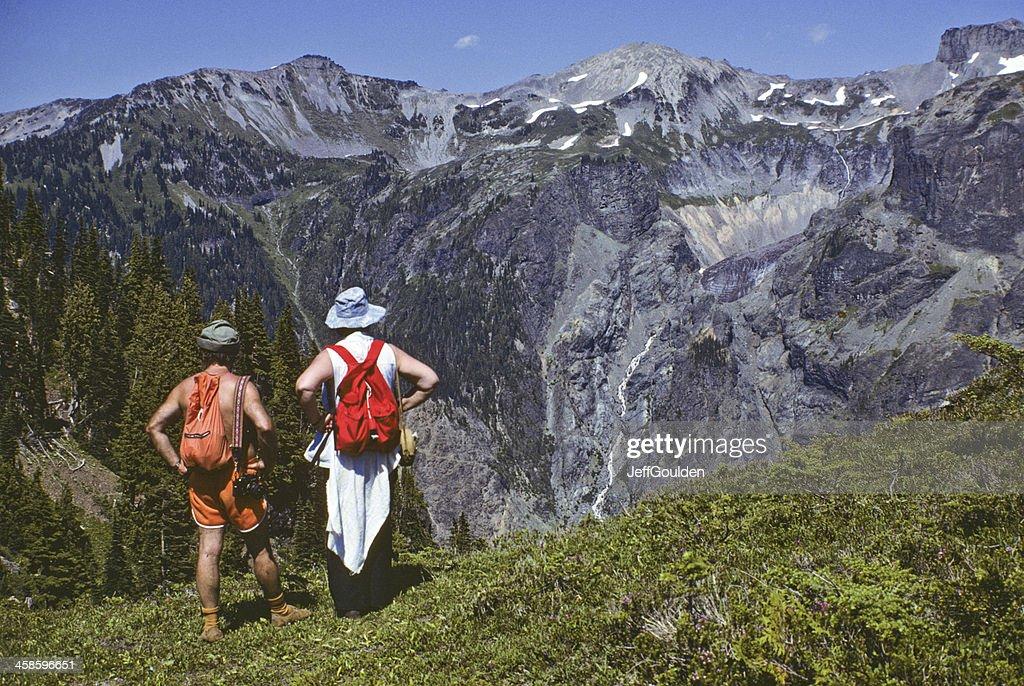Hikers Enjoying the View : Stock Photo