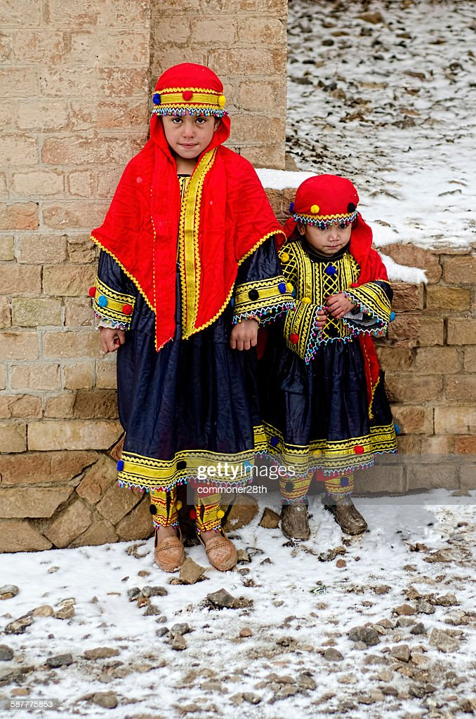 Two Afghan Baby Girls ! : Stock Photo