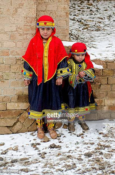 two afghan baby girls ! - pathan girls stock photos and pictures