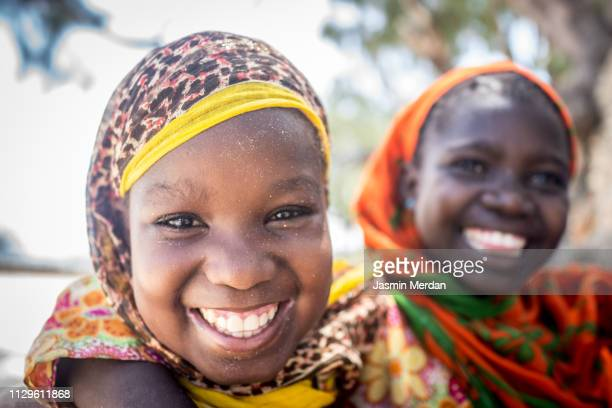 Two African girls portrait