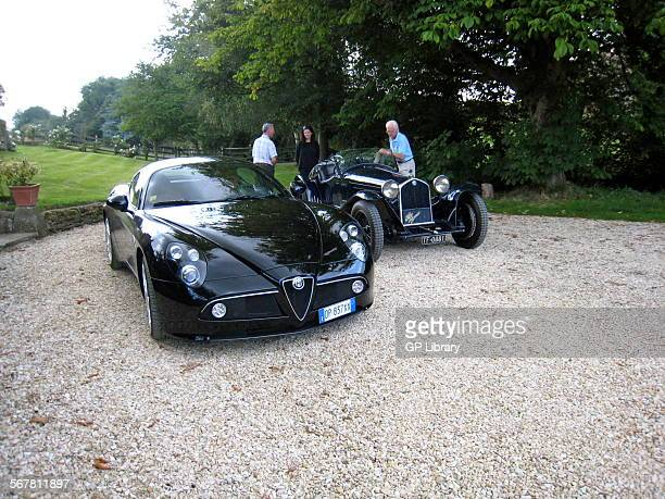 Two Alfa Romeo 8Cs a 2008 Competizione and a 1932 Touring