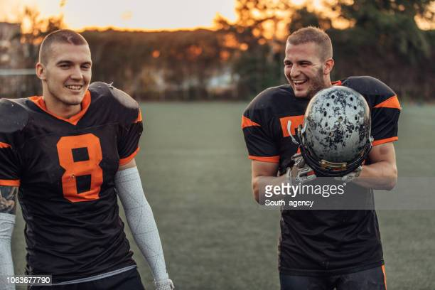 two american football players - guard american football player stock photos and pictures