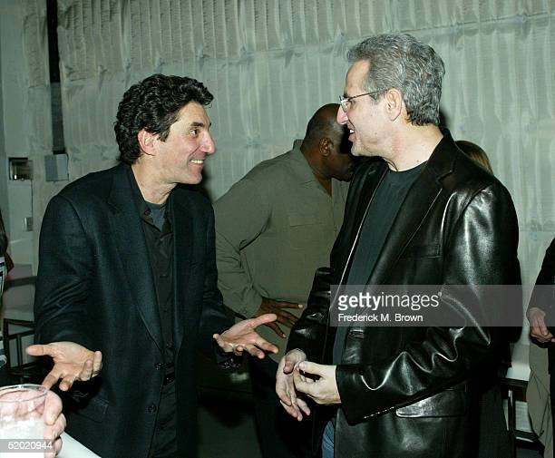 Two and a Half Men show creators Chuck Lorre and Lee Aronsohn attend the CBS UPN Winter Press Tour party on January 18 2005 in West Hollywood...