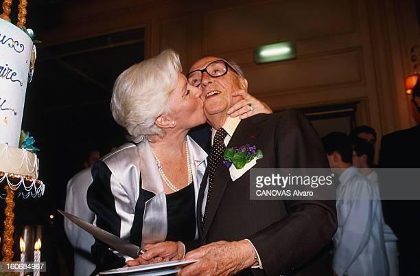 Two Anniversaries At Fouquet's Jacques CHIRAC et son épouse Bernadette célèbrent leurs 35 ans de mariage et Loulou GASTE son 83ème anniversaire avec...