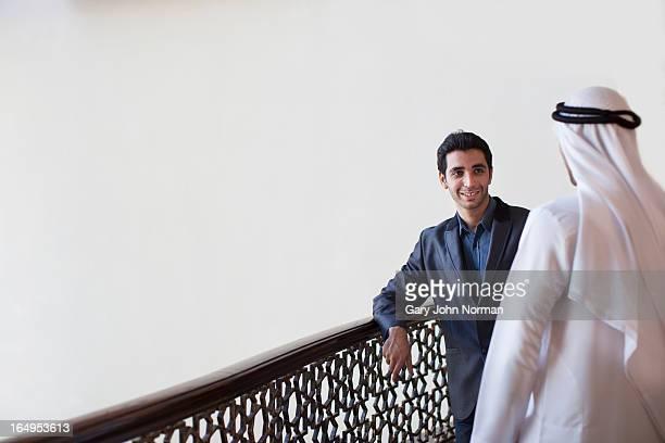 two arab men having casual conversation