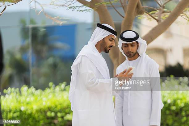 Two Arab Men in conversation