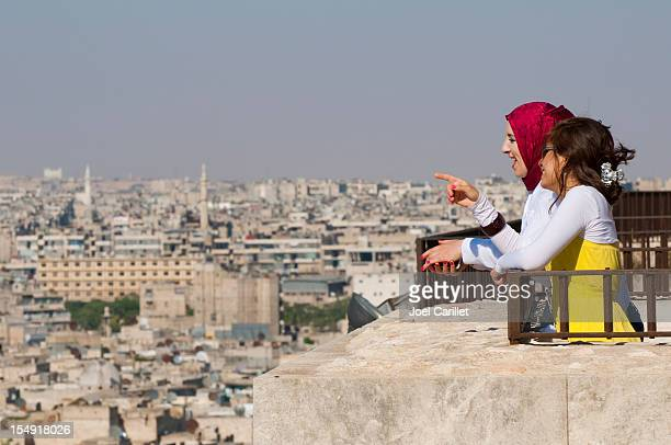 Arab women in Aleppo, Syria