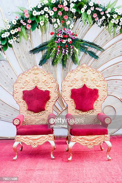 Two armchairs on a wedding stage