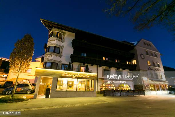 Two austrian athletes have been arrested at the 'Bergland' hotel in Seefeld on February 27 2019 in Seefeld Austria Several people in Austria and...