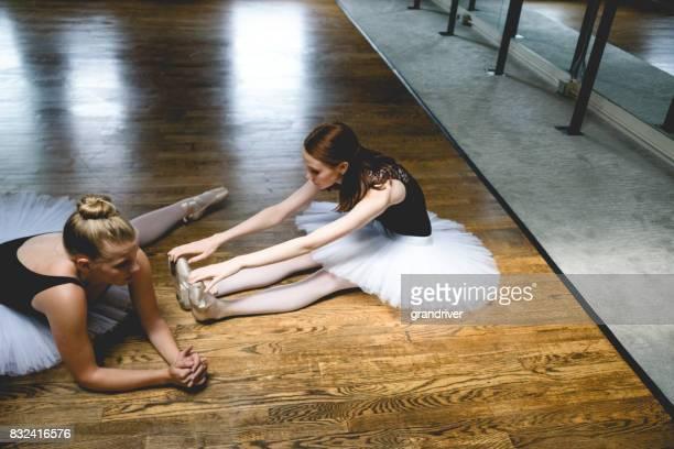 Deux ballerines Stretching étirement étage